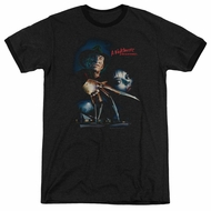 Nightmare On Elm Street Poster Black Ringer Shirt