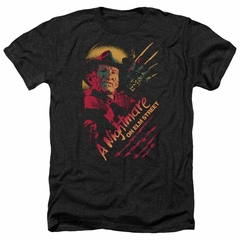Nightmare On Elm Street Shirt Freddy Claws Heather Black T-Shirt