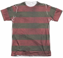 Nightmare On Elm Street Shirt Freddy Sweater Poly/Cotton Sublimation Shirt Front/Back Print