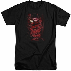 Nightmare On Elm Street Shirt One Two Freddys Coming For You Tall Black T-Shirt