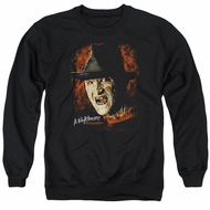 Nightmare On Elm Street Sweatshirt Freddy Krueger Adult Black Sweat Shirt