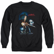 Nightmare On Elm Street Sweatshirt Poster Adult Black Sweat Shirt