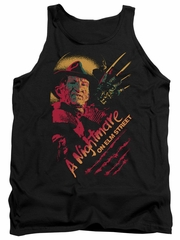 Nightmare On Elm Street Tank Top Freddy Claws Black Tanktop