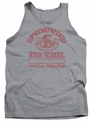 Nightmare On Elm Street Tank Top Springwood High Heather Grey Tanktop