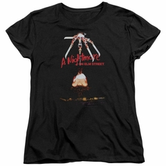 Nightmare On Elm Street Womens Shirt Alternate Poster Black T-Shirt
