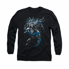 Nightwing DC Comics Shirt Dynamic Duo Long Sleeve Black Tee T-Shirt