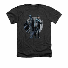 Nightwing DC Comics Shirt Spotlight Adult Heather Charcoal Tee T-Shirt