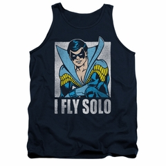 Nightwing DC Comics Tank Top Fly Solo Navy Blue Tanktop