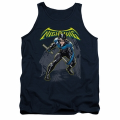 Nightwing DC Comics Tank Top Nightwing Navy Blue Tanktop