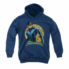 Nightwing DC Comics Youth Hoodie Moon Navy Blue Kids Hoody