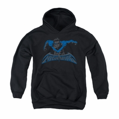 Nightwing DC Comics Youth Hoodie Wing Of The Night Black Kids Hoody