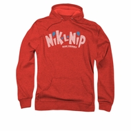 Nik L Nips Hoodie Distressed Logo Red Sweatshirt Hoody