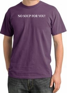 No Soup For You T-shirt - Adult Pigment Dyed Plum Tee