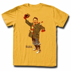 Norman Rockwell Shirt Excited Child Gold T-Shirt