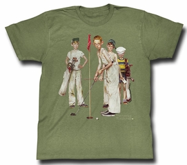 Norman Rockwell Shirt Golf Adult Green Tee T-Shirt