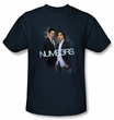 Numb3rs T-Shirt - Don & Charlie Adult Navy Blue Tee Shirt