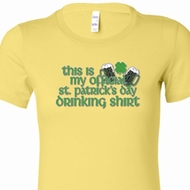 Official Drinking Shirt Ladies St Patricks Day Shirts