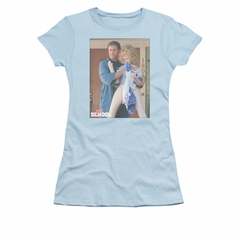 Old School Shirt Juniors Frank And Doll Light Blue Tee T-Shirt