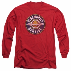 Oldsmobile Long Sleeve Shirt Vintage Service Red Tee T-Shirt