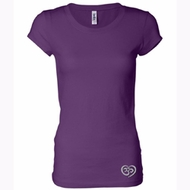 OM Heart Bottom Print Ladies Yoga Shirts