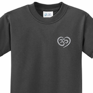 OM Heart Pocket Print Kids Yoga Shirts