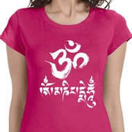 OM Mani Padme Hum Ladies Yoga Shirts