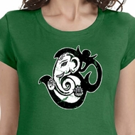 Om Mashup Ladies Yoga Shirts