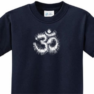 OM Tie Dye Kids Yoga Shirts