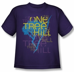 One Tree Hill Shirt Kids Logo Purple Youth Tee T-Shirt