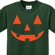 Orange Jack O Lantern Kids Halloween Shirts