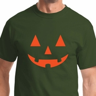 Orange Jack O Lantern Mens Halloween Shirts