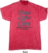 Ovarian Cancer Hope Love Cure Mineral Tie Dye T-shirt