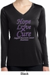 Pancreatic Cancer Hope Love Cure Ladies Dry Wicking Long Sleeve
