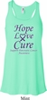 Pancreatic Cancer Hope Love Cure Ladies Flowy Racerback
