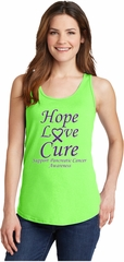 Pancreatic Cancer Hope Love Cure Ladies Tank Top