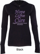 Pancreatic Cancer Hope Love Cure Ladies Tri Blend Hoodie