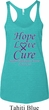 Pancreatic Cancer Hope Love Cure Ladies Tri Blend Racerback