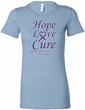 Pancreatic Cancer Tee Hope Love Cure Ladies Longer Length Shirt