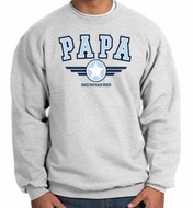 Papa Fleece Sweatshirt - Grandpa - Pop Pop - Dad - Adult Sweatshirt