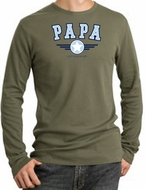 PaPa Longsleeve Thermal - Grandpa Grandfather Dad Father Adult Thermal