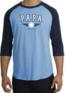 PaPa Shirt Grandpa Grandfather Dad Father Raglan T-shirt