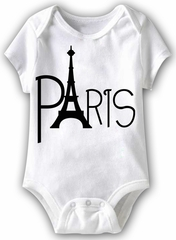Paris Eiffel Tower Funny Baby Romper White Infant Babies Creeper