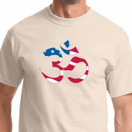 Patriotic Om Mens Yoga Shirts