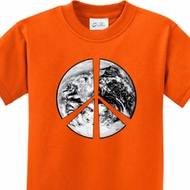 Peace Earth Kids Shirts