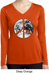 Peace Earth Ladies Dry Wicking Long Sleeve Shirt