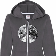 Peace Earth Ladies Full Zip Hoodie