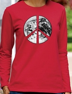 Peace Earth Ladies Long Sleeve T-shirts
