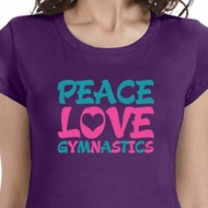 Peace Love Gymnastics Ladies Gymnastics Shirts