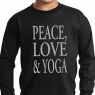 Peace Love & Yoga Kids Long Sleeve Shirt