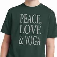 Peace Love & Yoga Kids Moisture Wicking Shirt